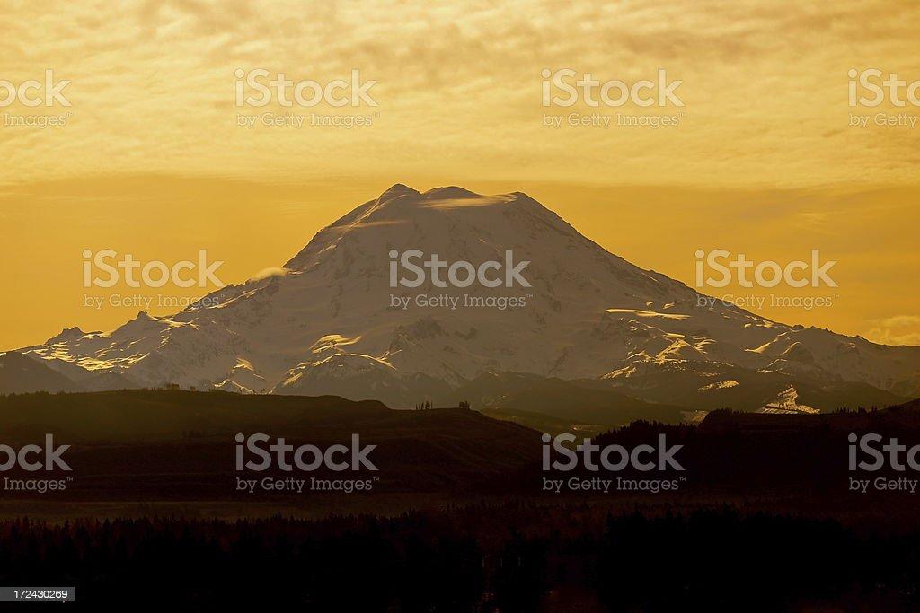 Mt. Rainier Morning royalty-free stock photo