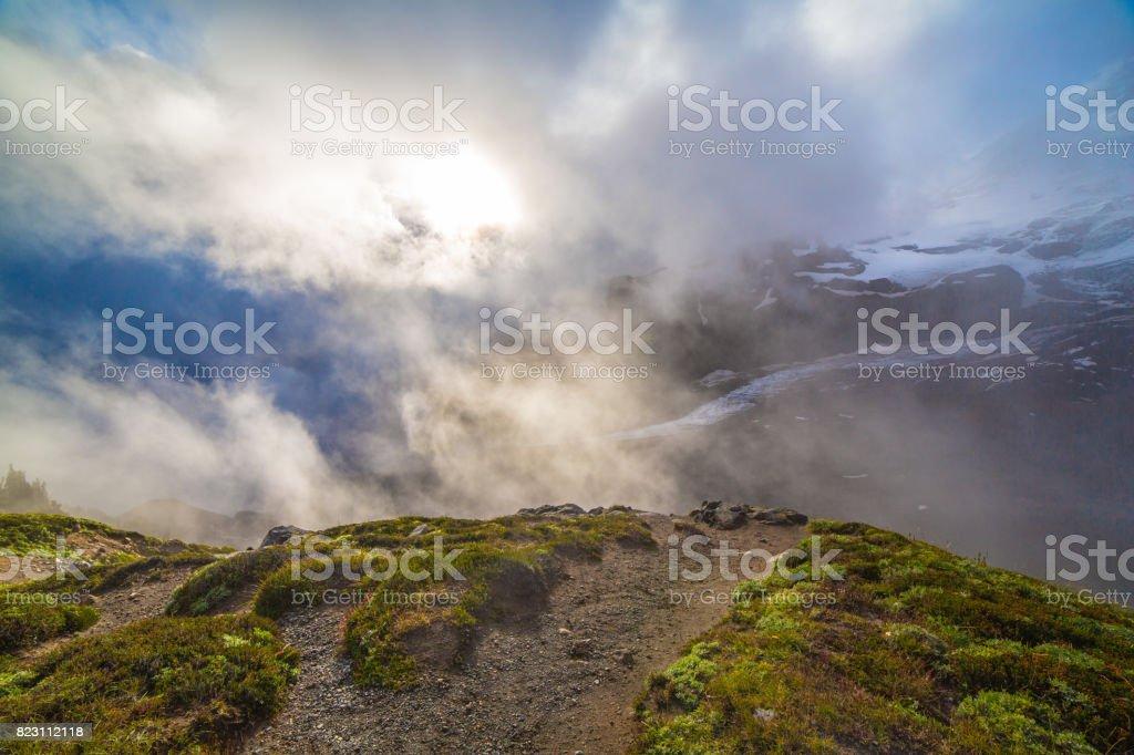 Mt. Rainier National Park stock photo