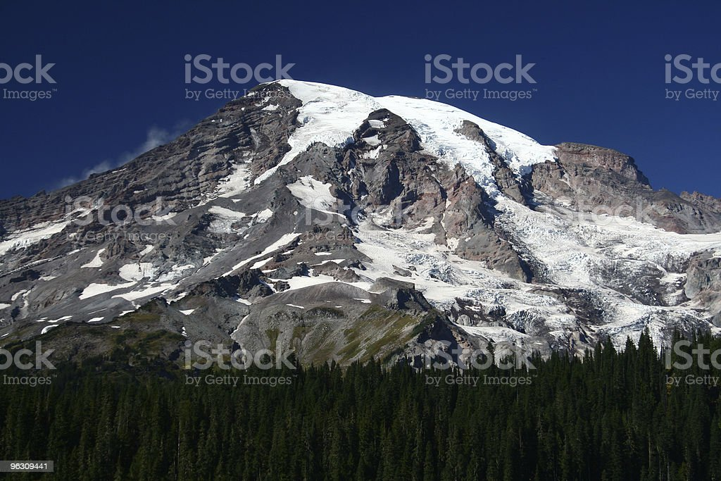 Mt. Rainier on a clear day royalty-free stock photo
