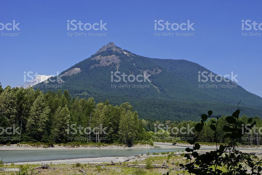 Mt. Rainier Rare Angle stock photo