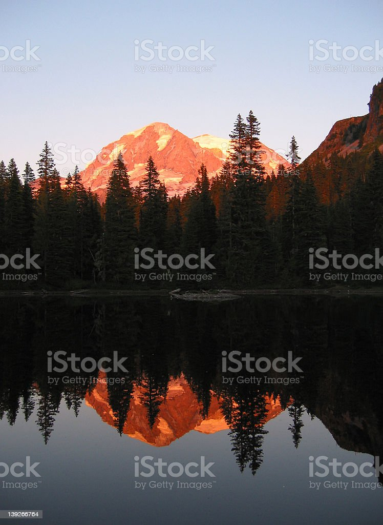 Mt. Rainier Reflected royalty-free stock photo