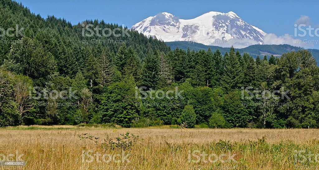 Mt. Rainier Southwest stock photo
