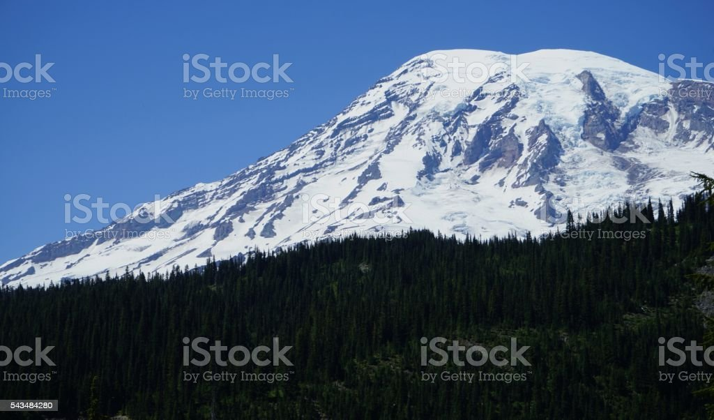 Mt. Rainier View stock photo