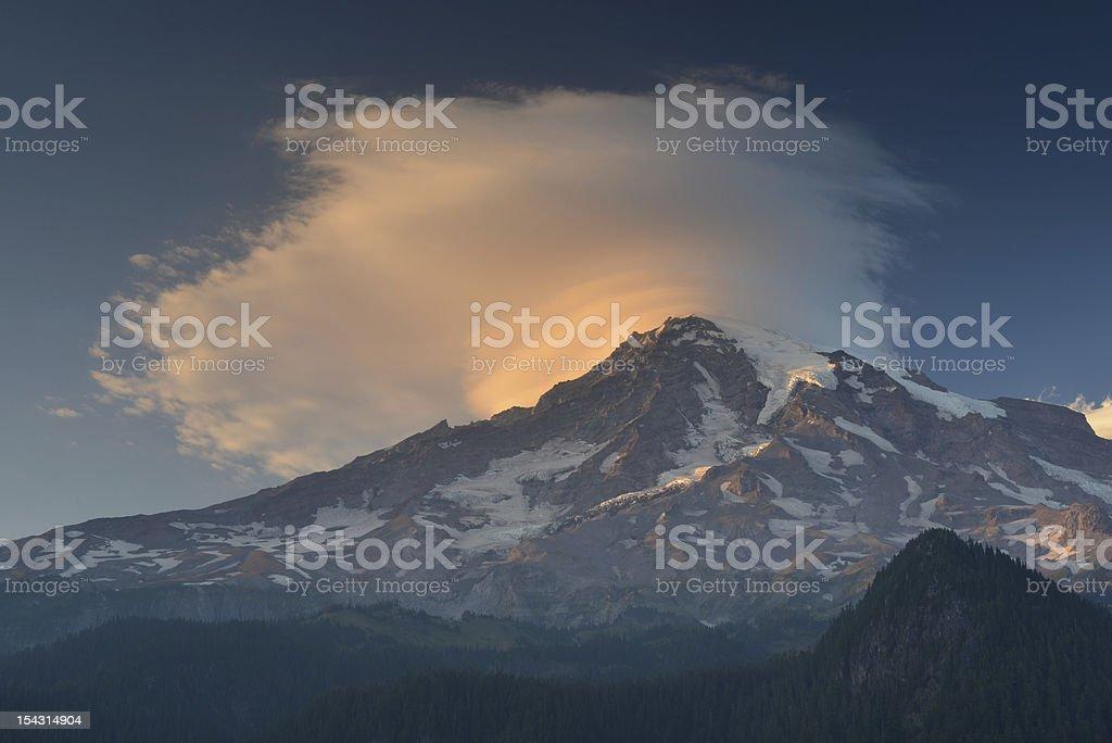 Mt Rainier volcano royalty-free stock photo