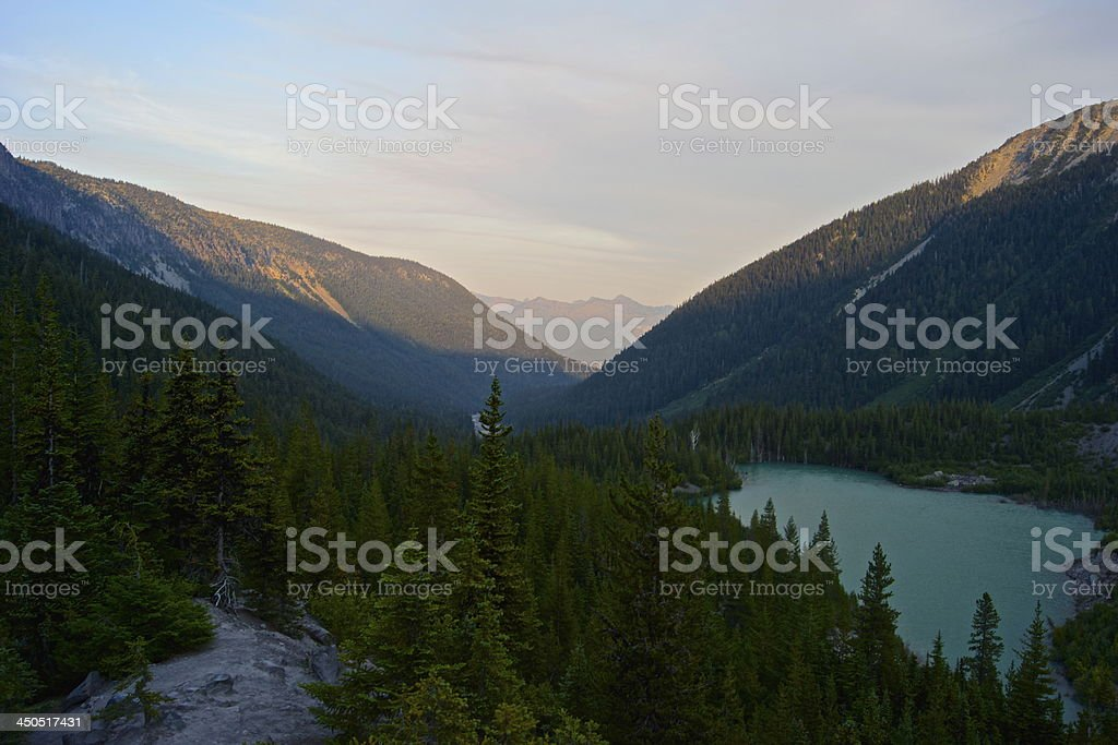 Mt. Rainier's Green Lake stock photo