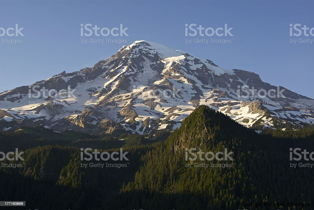 Mt. Rainier's Radiance stock photo