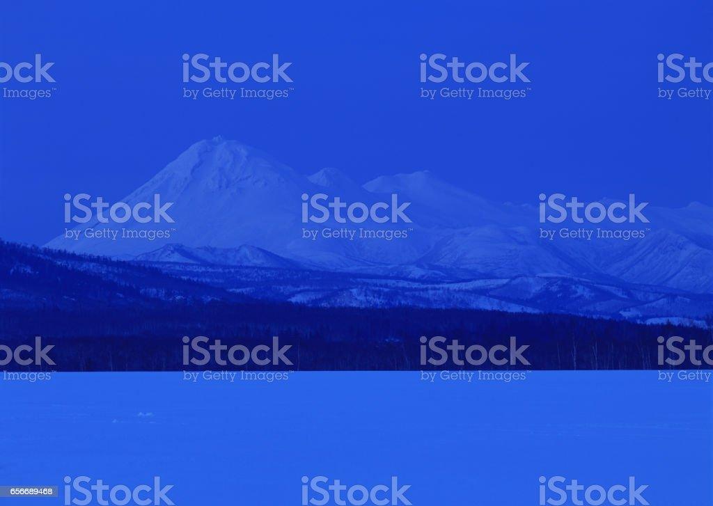 Mt. Rausu stock photo