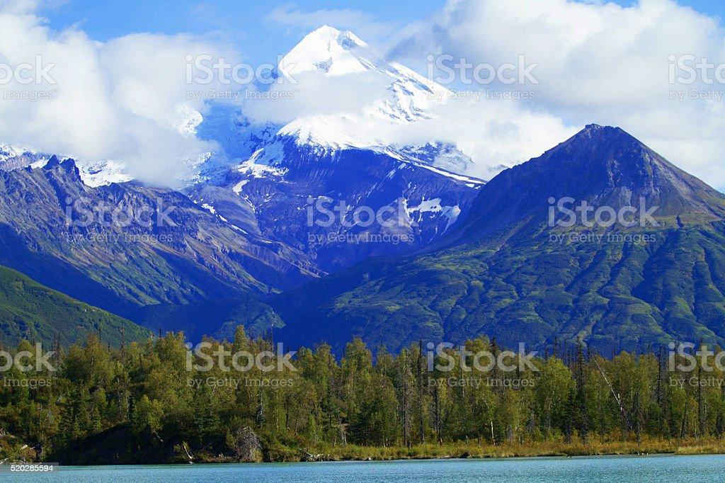 Mt. Redoubt in Alaska stock photo