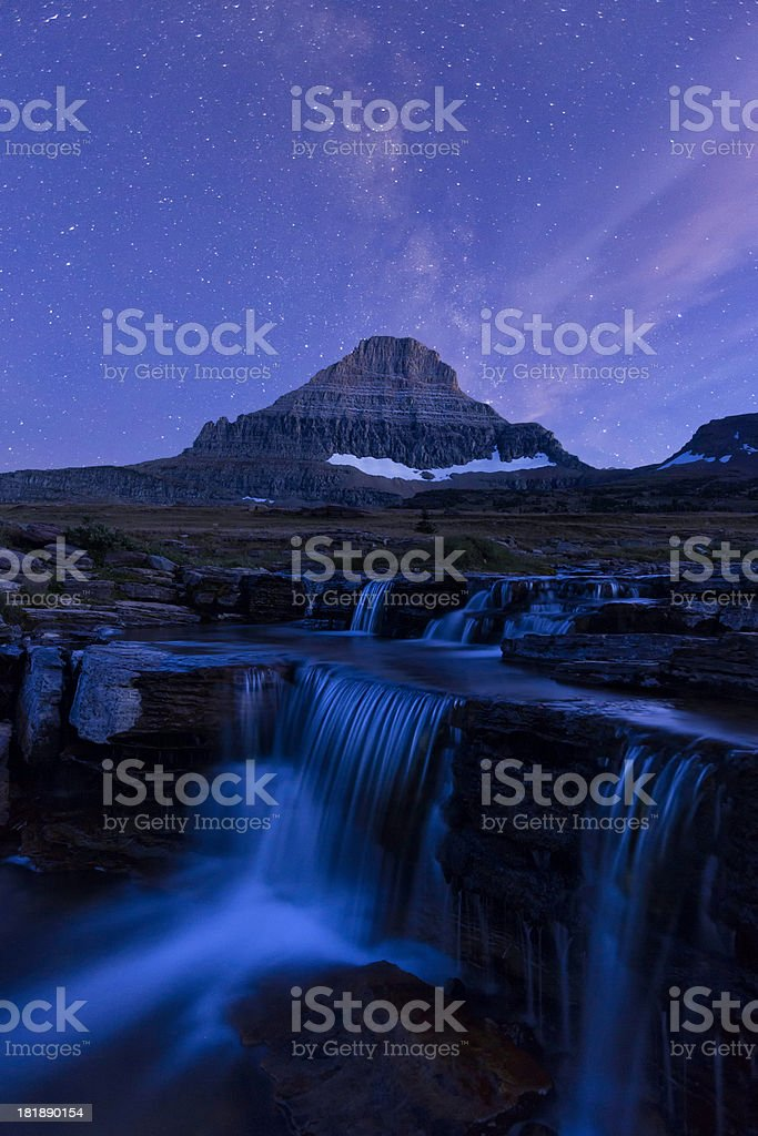 Mt. Reynolds and the Milky Way stock photo