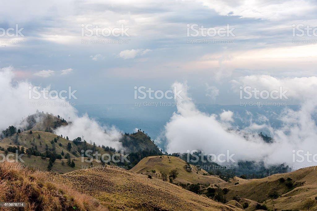 Mt. Rinjani Volcano stock photo