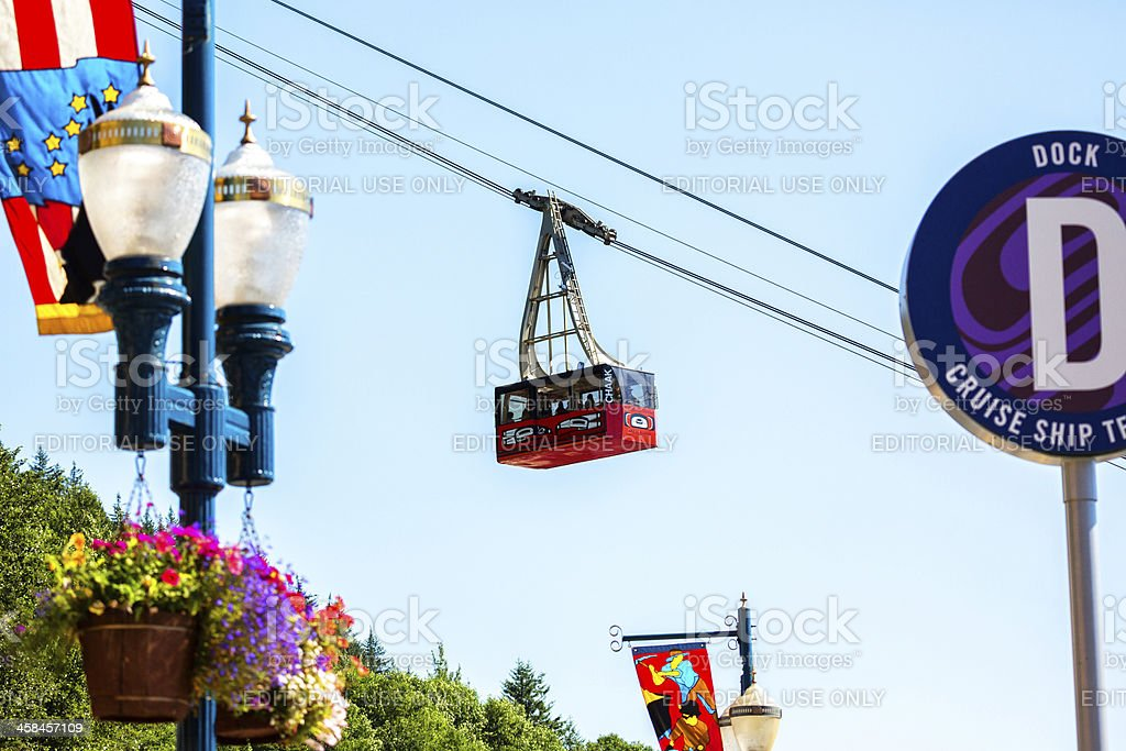 Mt Roberts Tramway, Juneau Alaska royalty-free stock photo