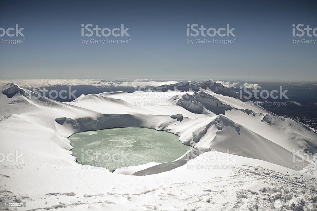 Mt Ruapehu Crater Lake royalty-free stock photo