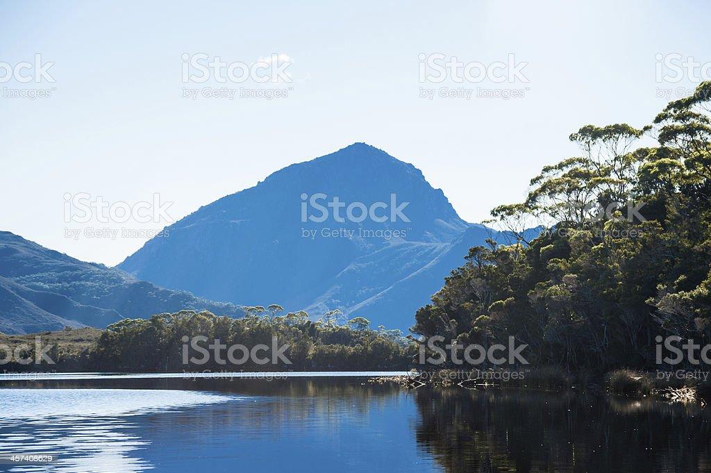 Mt Rugby, South West da Tasmânia foto royalty-free