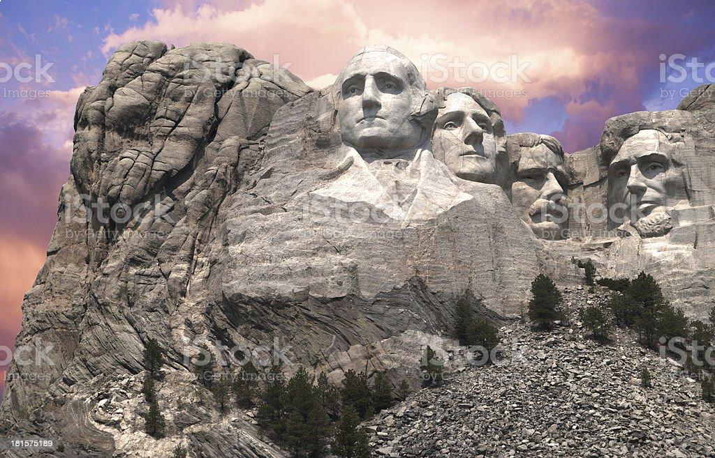 Mt Rushmore High Detail stock photo