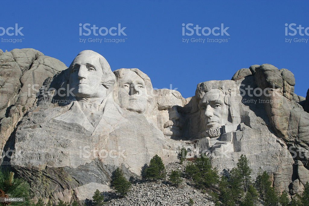 Mt Rushmore stock photo