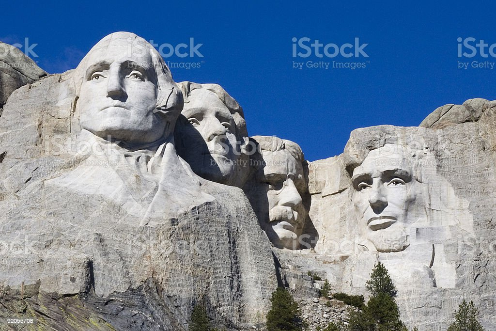 Mt. Rushmore royalty-free stock photo