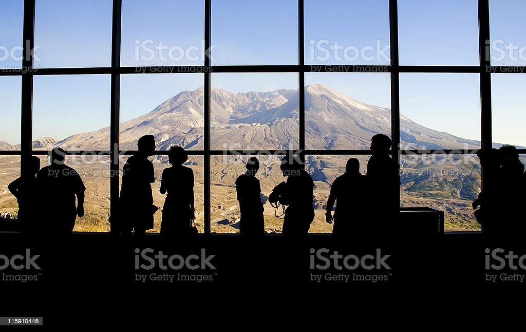Mt. Saint Helens' Johnston Ridge Observatory stock photo