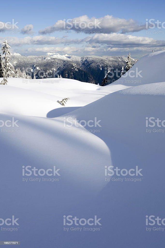 Mt. Seymour Snow S-Curve stock photo