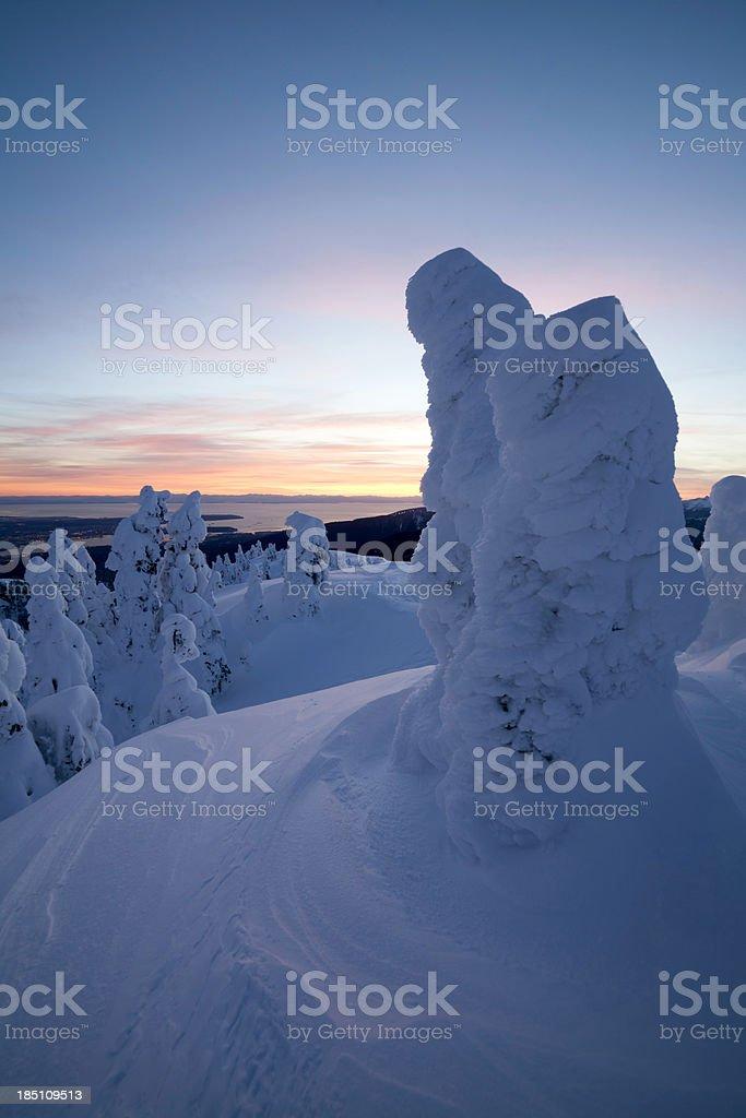 Mt. Seymour Sunset stock photo