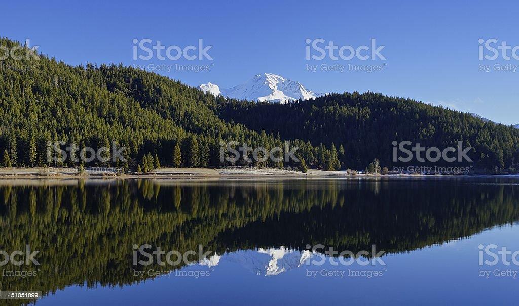 Mt. Shasta Double stock photo