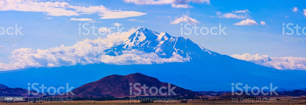 Mt. Shasta during Summer stock photo