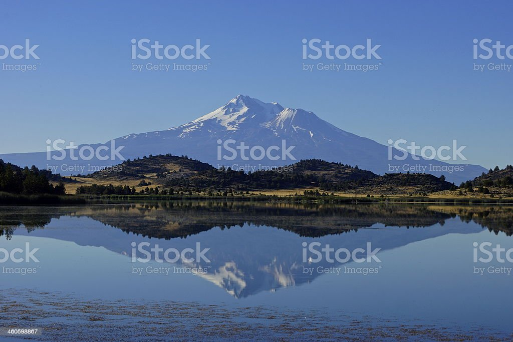 Mt. Shasta Ice Mirror stock photo