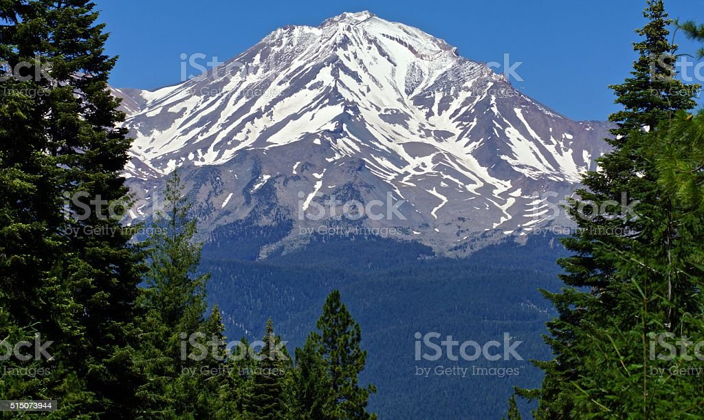 Mt. Shasta Vertical Rise stock photo