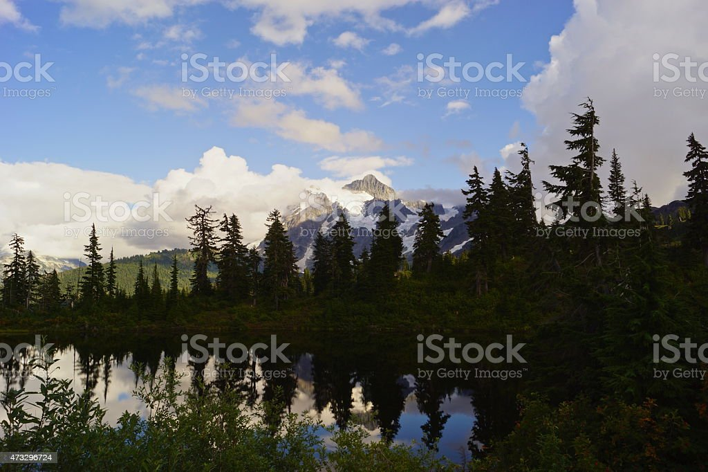 Mt. Shuksan Area Lake stock photo
