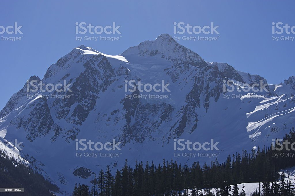 Mt. Shuksan Blue Ice stock photo