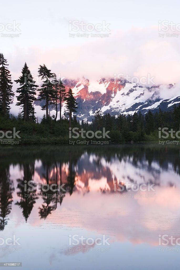 Mt Shuksan, evening after storm - II royalty-free stock photo