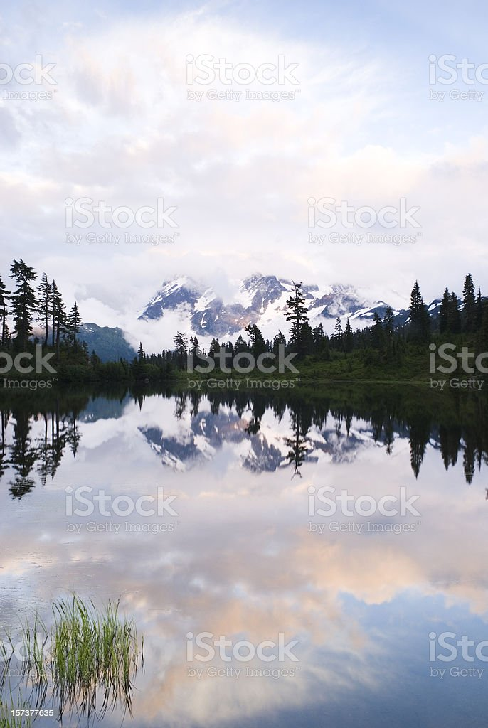 Mt Shuksan, evening after storm - IV royalty-free stock photo