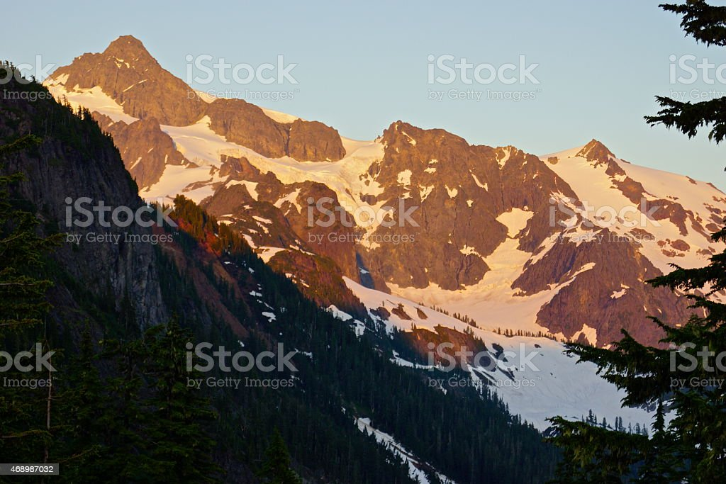 Mt. Shuksan Fire stock photo