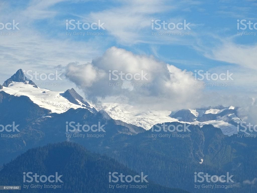 Mt. Shuksan Glacier stock photo