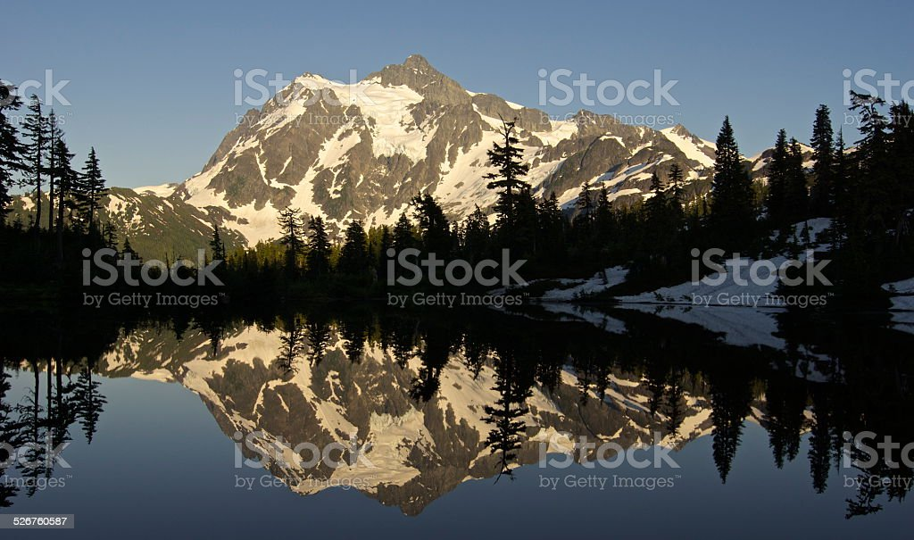 Mt. Shuksan Golden Ice stock photo