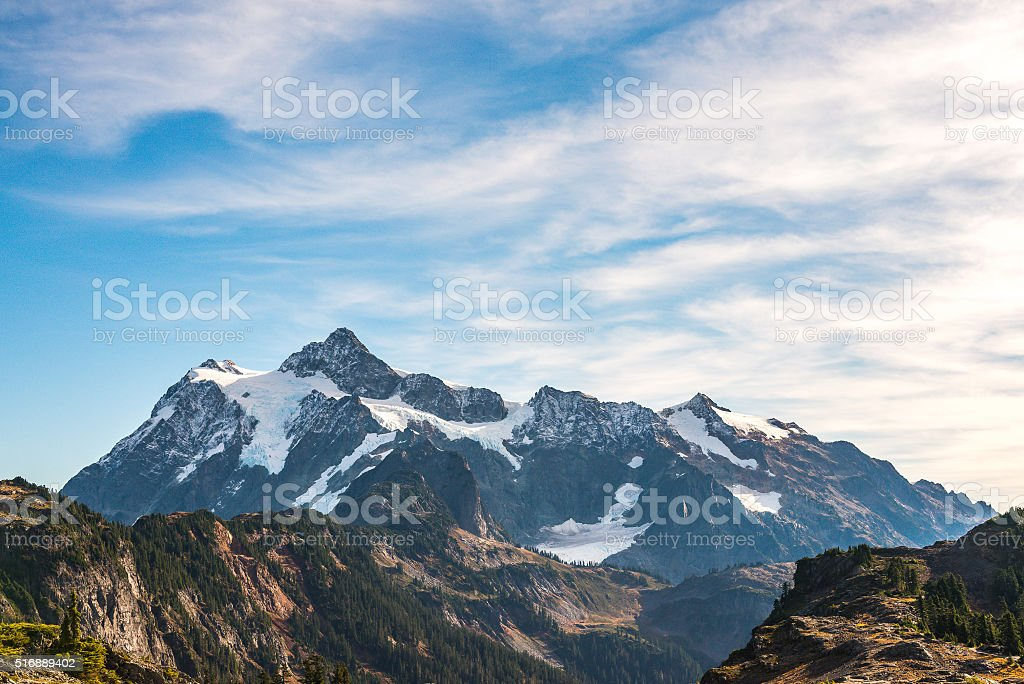 mt Shuksan in Artist point area on the day stock photo