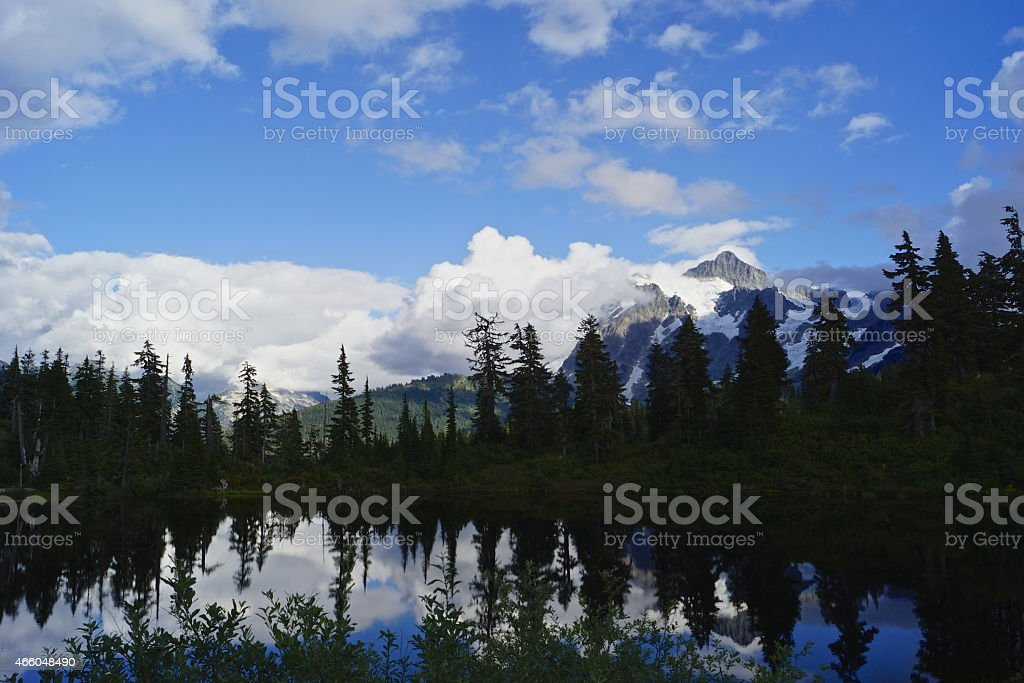 Mt. Shuksan Lake stock photo