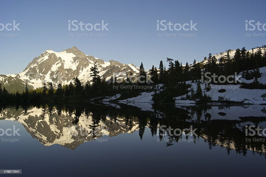 Mt. Shuksan Mirror stock photo