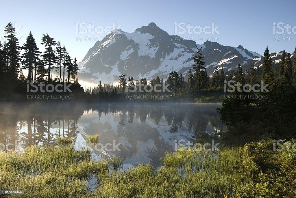 Mt Shuksan reflection royalty-free stock photo