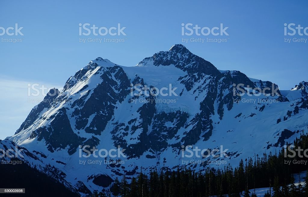 Mt. Shuksan Shady stock photo