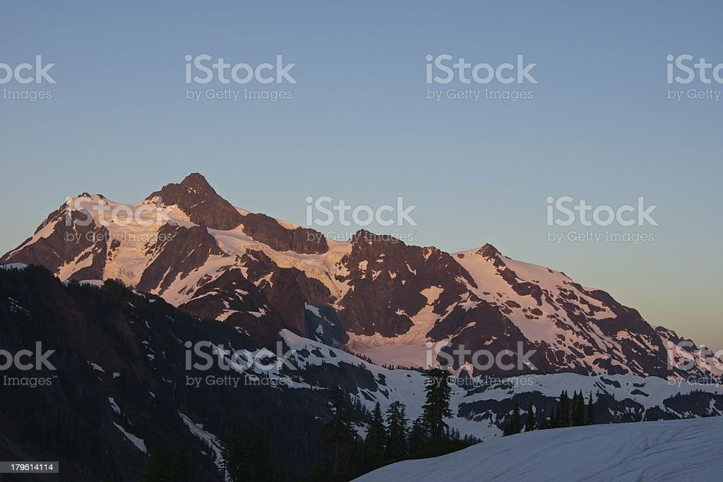 Mt. Shuksan Sunset stock photo