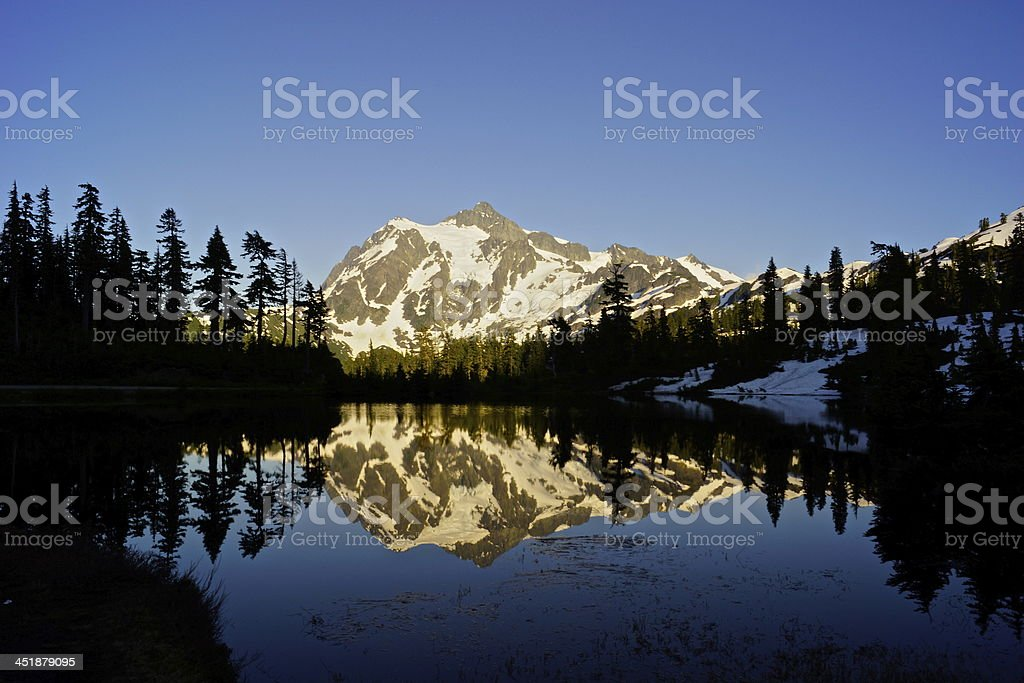 Mt. Shuksan Twilight stock photo