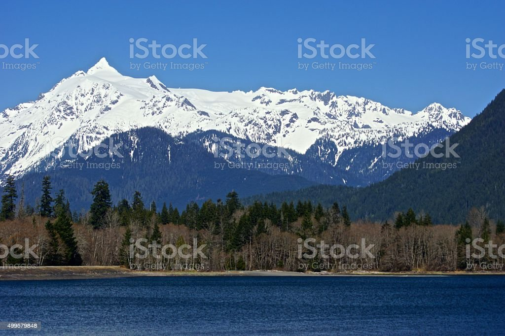 Mt. Shuksan Wall stock photo