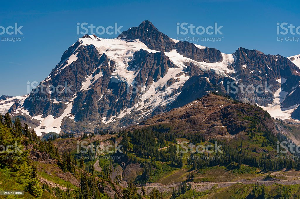 Mt. Shuksan, Washington. stock photo