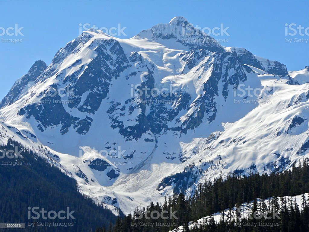 Mt. Shuksan's Sacred Ice stock photo