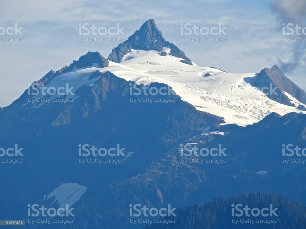 Mt. Shuksan's Summer Ice stock photo