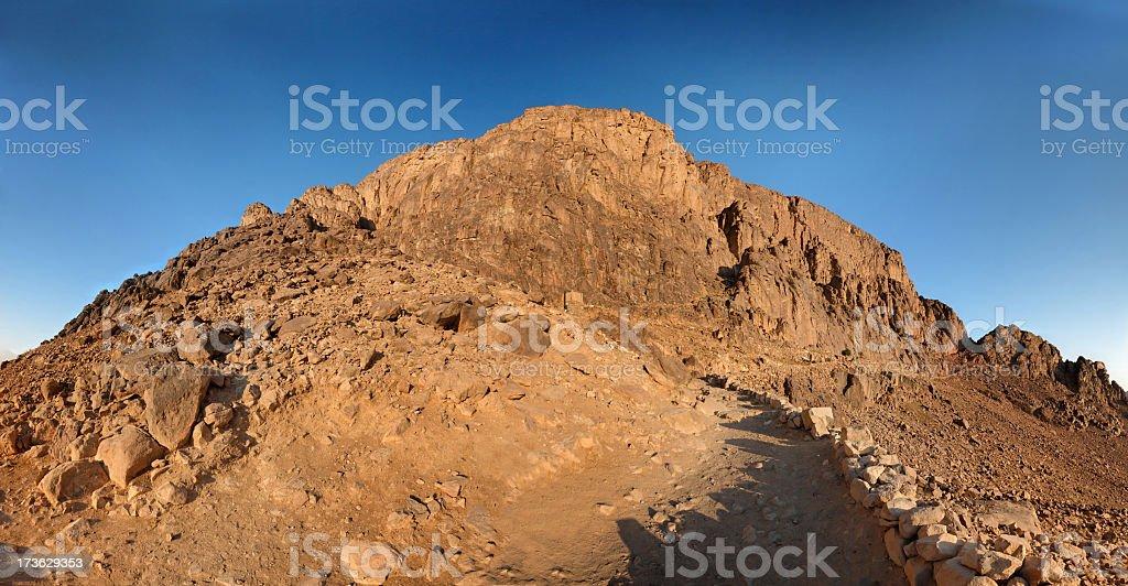 Mt. Sinai in Egypt stock photo