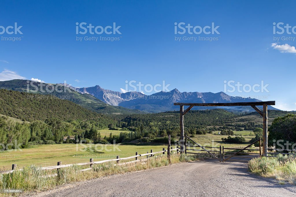 Mt. Sneffels, Colorado Near Telluride stock photo
