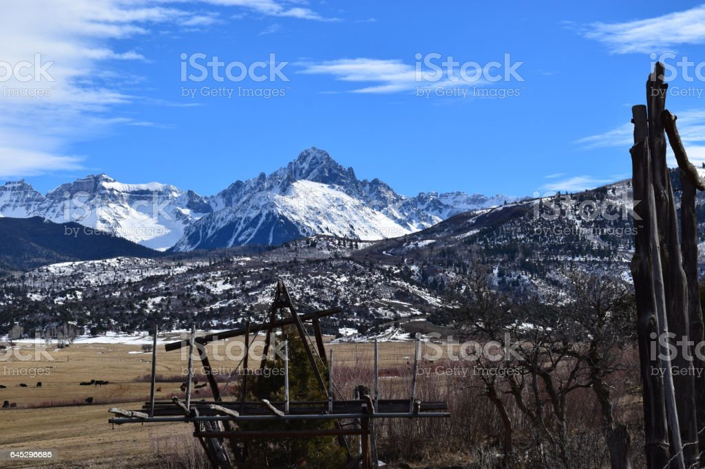 Mt Sneffels stock photo