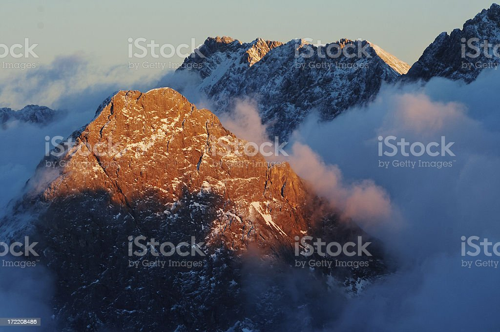 mt. sonnenspitze royalty-free stock photo