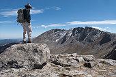 Mt Spalding hiker Mount Evans Rocky Mountain Front Range Colorado